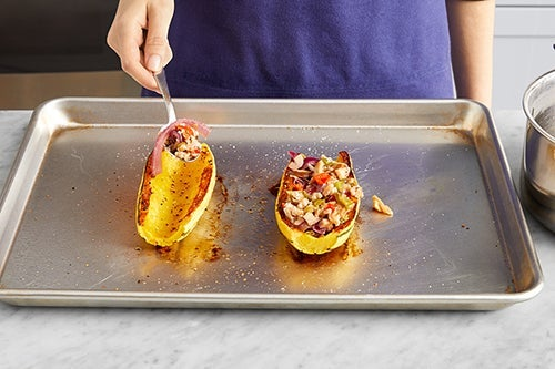 Finish the squash & serve your dish: