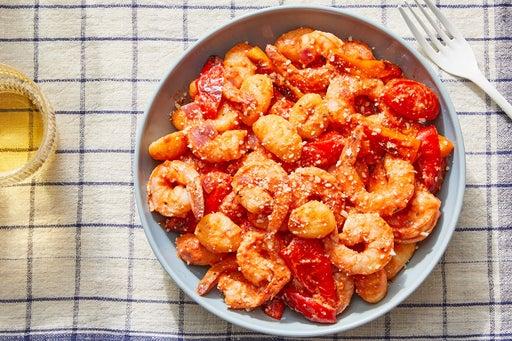 Shrimp & Gnocchi with Creamy Tomato Sauce