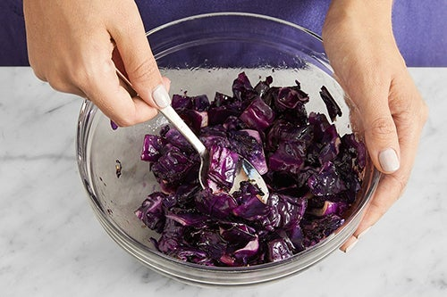 Roast & finish the cabbage: