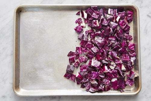 Season the cabbage: