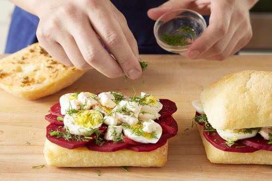 Assemble & press the sandwiches: