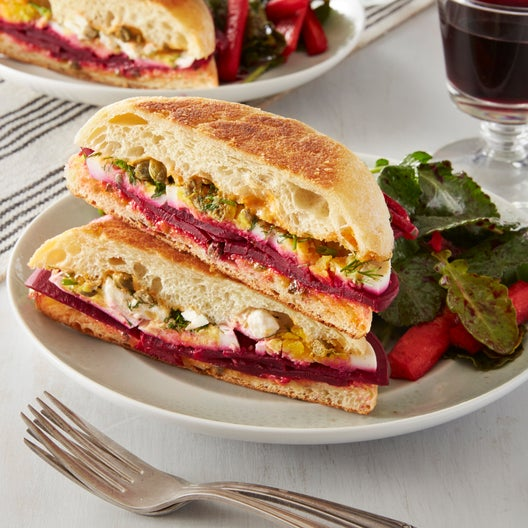 Pickled Beet & Hard-Boiled Egg Sandwiches with Smoky Mayonnaise
