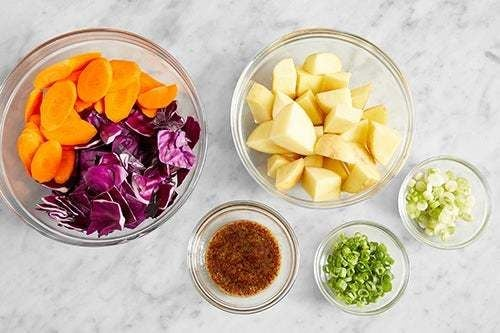 Prepare the ingredients & make the honey mustard: