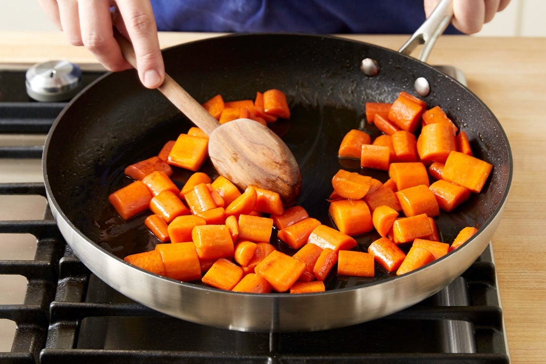 Cook the carrots: