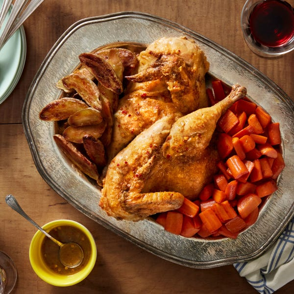 Roasted Chicken with Fingerling Potatoes & Italian-Style Dressing
