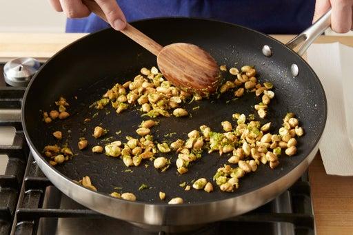 Make the garlic-lime peanuts: