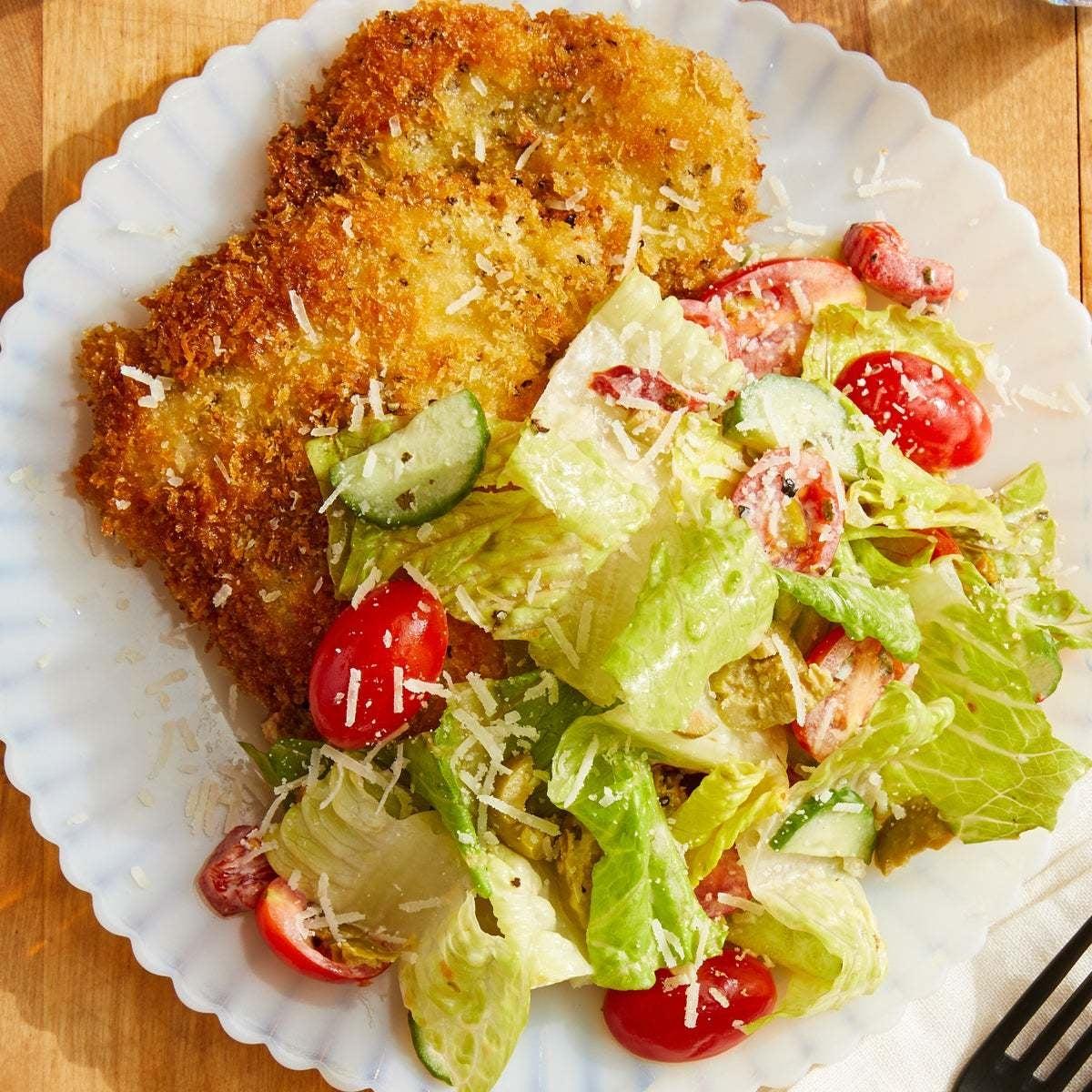 Chicken Milanese with Pizzeria Salad