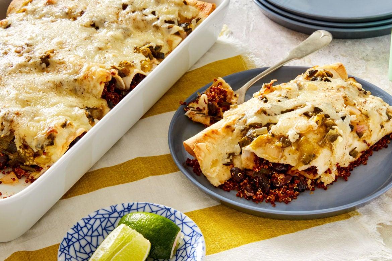 Blue apron quinoa enchiladas - Black Bean Quinoa Enchiladas With Poblano Tomatillo Salsa Verde