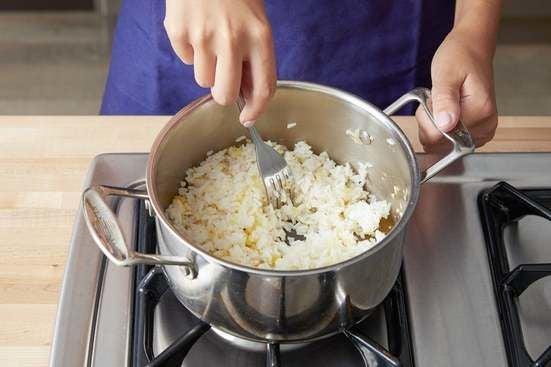Make the aromatic rice: