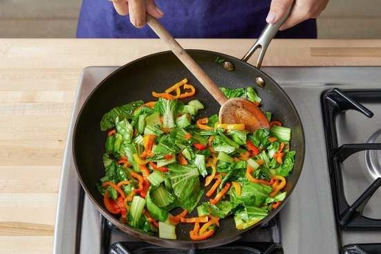 Cook the vegetables & serve your dish: