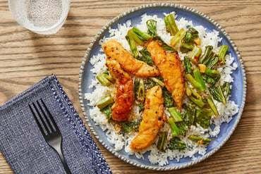 General Tso's Chicken with Yu Choy & Jasmine Rice
