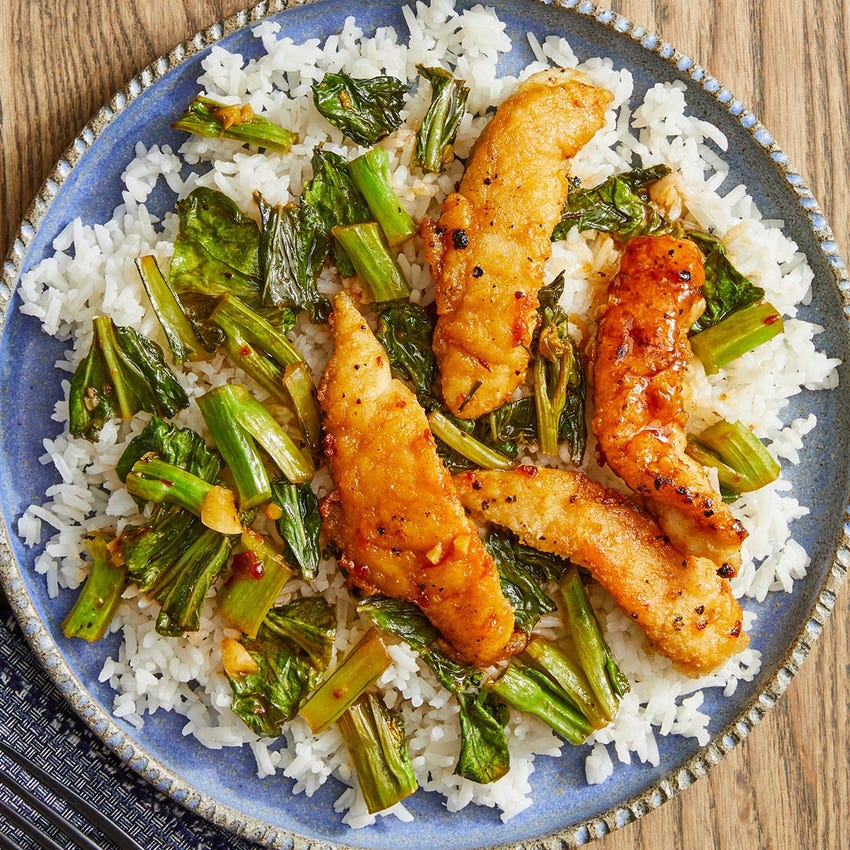 General Tso's Chicken with Jasmine Rice