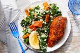 Harissa & Honey-Glazed Chicken with Vegetable & Lemon Couscous