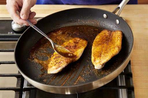 Cook & glaze the catfish: