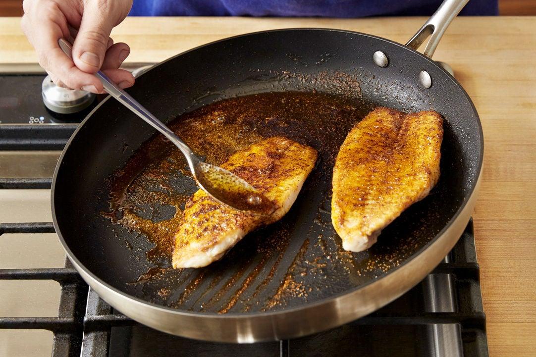 Cook & glaze the catfish: