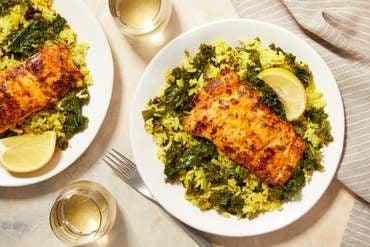 Seared Cod & Saffron Rice with Lemon-Butter Pan Sauce