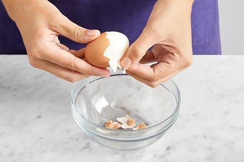 Cook & chop the egg: