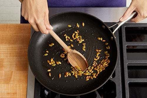 Toast the pepitas: