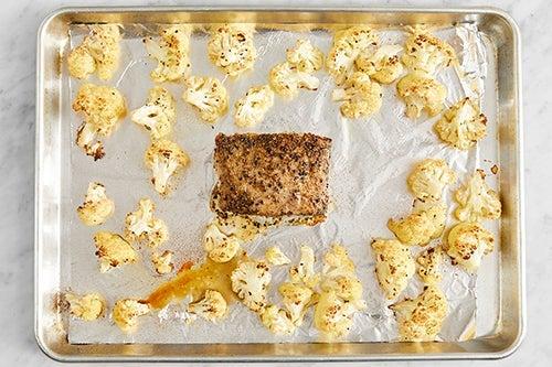 Roast the pork & cauliflower: