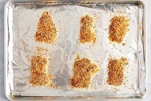 Coat & bake the fish: