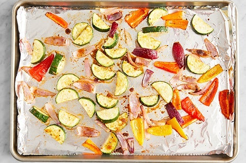 Roast & finish the vegetables: