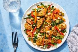 Chicken Stir-Fry with Gai Lan, Carrots & Sweet Peppers