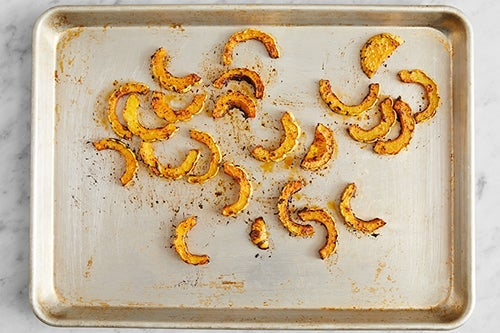 Prepare & roast the squash: