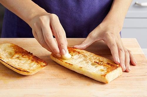 Make the garlic toast: