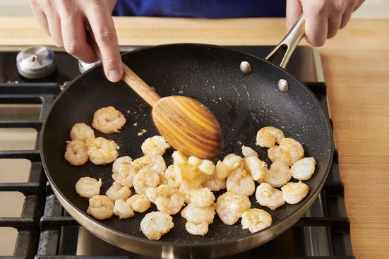 Start the shrimp:
