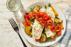 Foil Packet Tilapia with Green Beans, Zucchini & Sweet Peppers