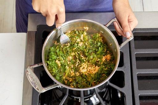 Make the kale rice: