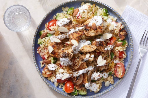 Gyro-Style Chicken Bowls with Cucumbers, Tomatoes & Couscous
