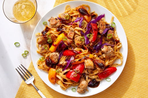 Sesame-Sweet Chili Wonton Noodles with Turkey or Chicken