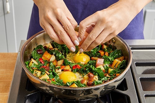 Bake the eggs & serve your dish: