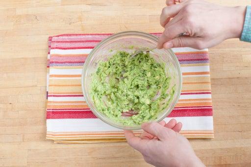 Make the guacamole: