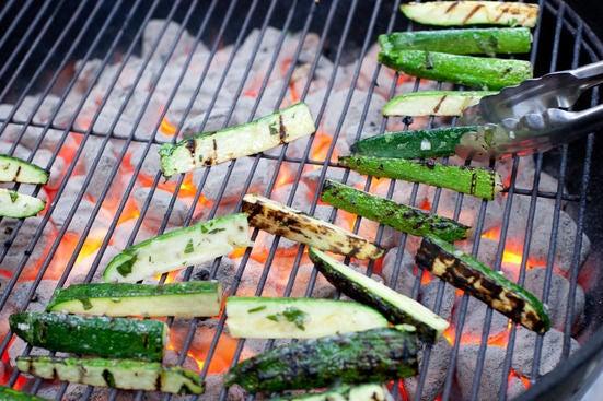 Grill the zucchini: