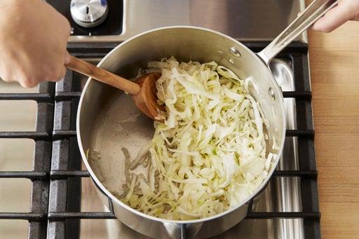 Make the sauerkraut: