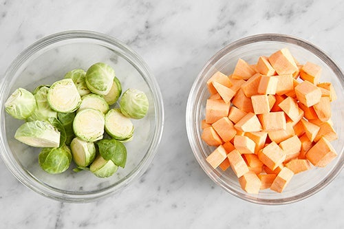 Prepare the vegetables: