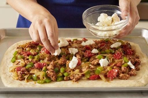 Prepare the dough & assemble the pizza: