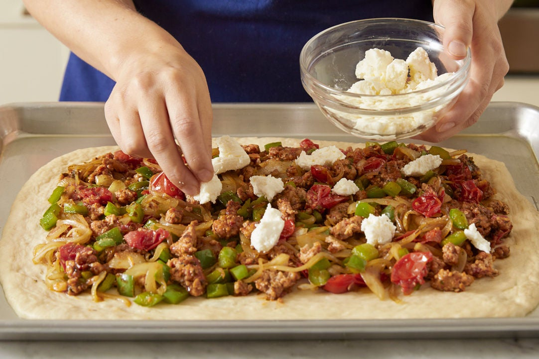Prepare the dough & assemble the pizza: