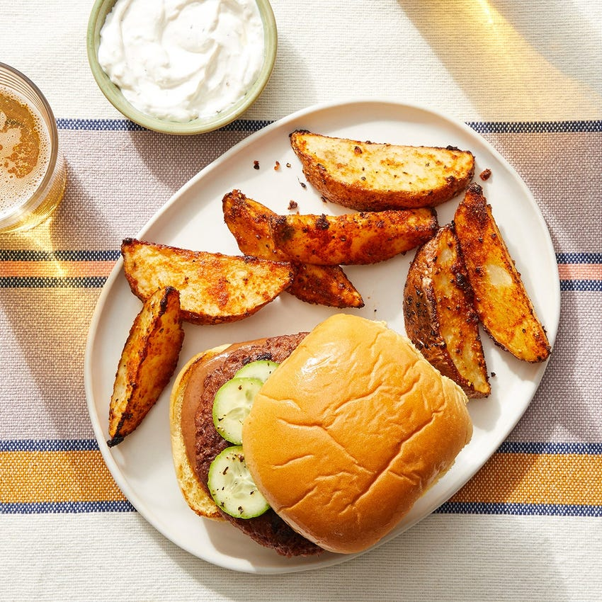 BBQ Beyond Burger™ with Roasted Potatoes & Garlic Sour Cream