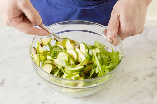 Finish the salad & plate your dish: