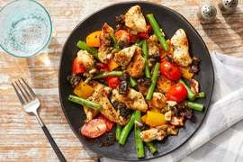 Seared Chicken & Vegetables with Marbella-Style Pan Sauce