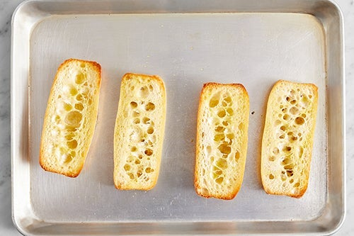 Toast the baguettes:
