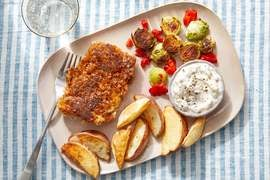 Crispy Cod & Potato Wedges with Homemade Tartar Sauce