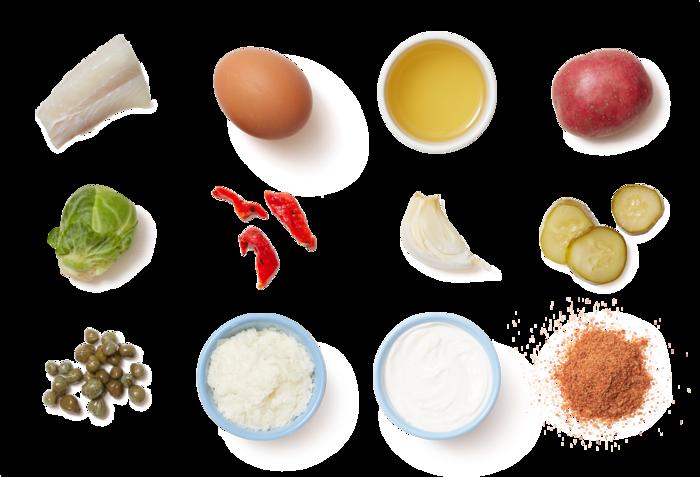 Crispy Cod & Potato Wedges with Homemade Tartar Sauce
