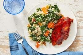 Harissa & Honey-Glazed Chicken with Vegetable & Lemon Couscous