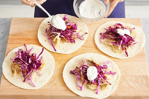 Assemble the tacos & serve your dish: