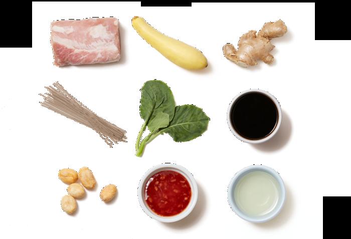 Roasted Pork & Soba Noodles with Sweet Chili-Glazed Vegetables