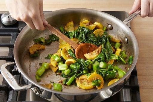 Start the vegetables: